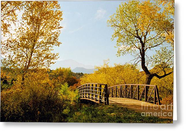 Garden Of The Gods Bridge Greeting Card