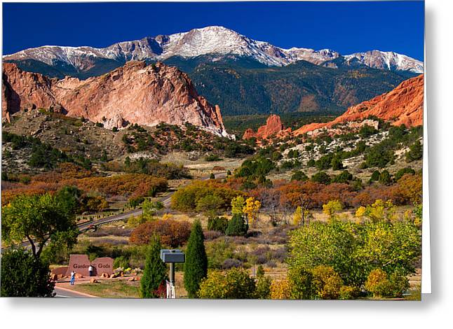 Garden Of The Gods In Autumn 2011 Greeting Card by John Hoffman