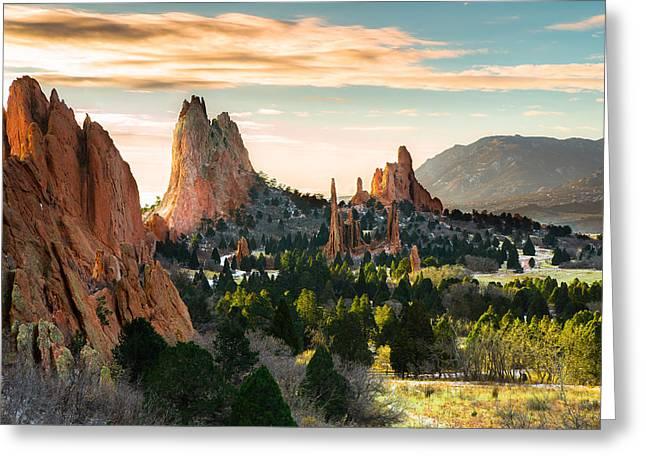 Garden Of The Gods In Colorado Springs Greeting Card