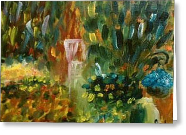 Garden On 11th Street Greeting Card by Steve Jorde