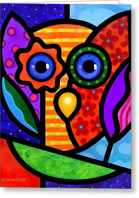Garden Owl Greeting Card