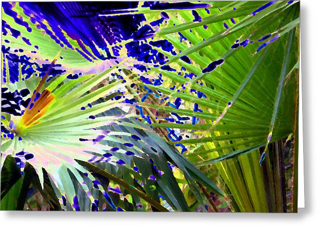 Garden Palms Greeting Card