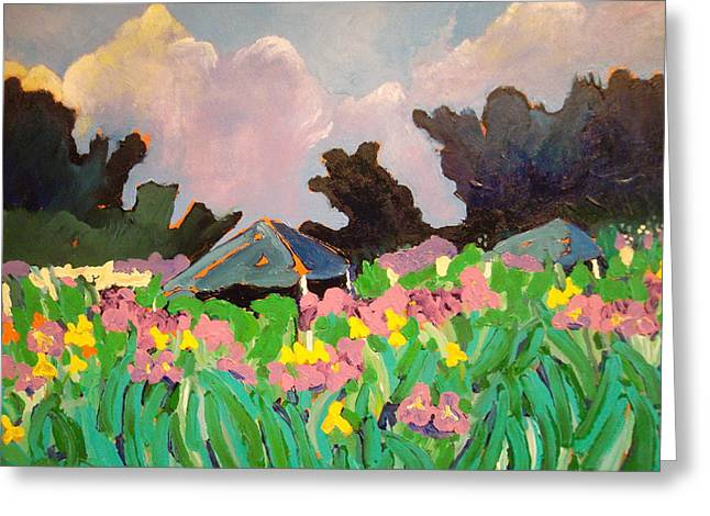 Garden Party 2 Greeting Card by Rodger Ellingson