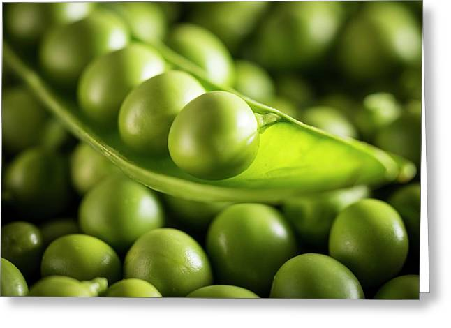 Garden Peas In The Pod Greeting Card