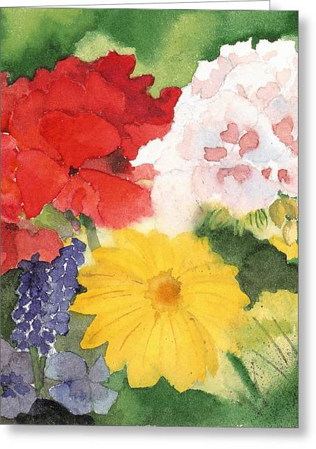 Garden Phlox Greeting Card by Susan Crossman Buscho