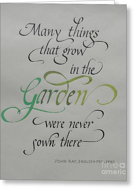 Garden Quote Greeting Card by Gloria Cooper