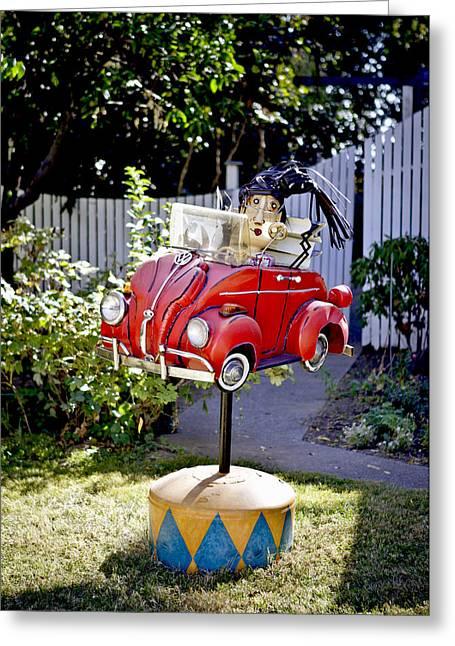 Garden Rag Top Art Greeting Card by Her Arts Desire