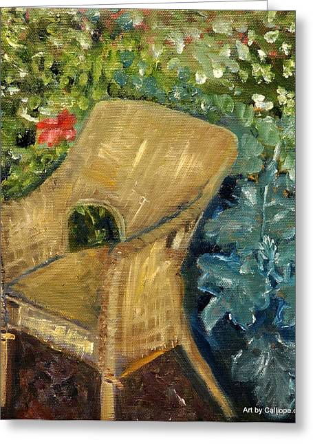 Garden Reading Chair Greeting Card