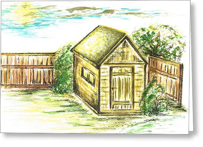 Garden Shed Greeting Card by Teresa White