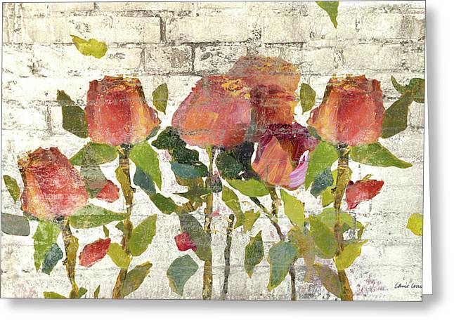 Garden Stems On Brick I Greeting Card by Lanie Loreth
