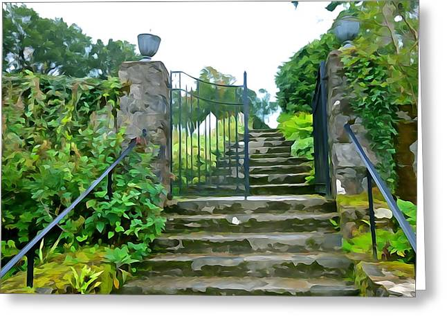 Garden Steps Greeting Card by Charlie and Norma Brock