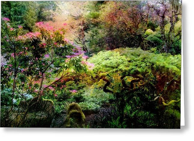 Garden Tapestry Greeting Card