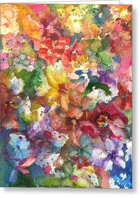 Garden - The Secret Life Of The Leftover Paint Greeting Card
