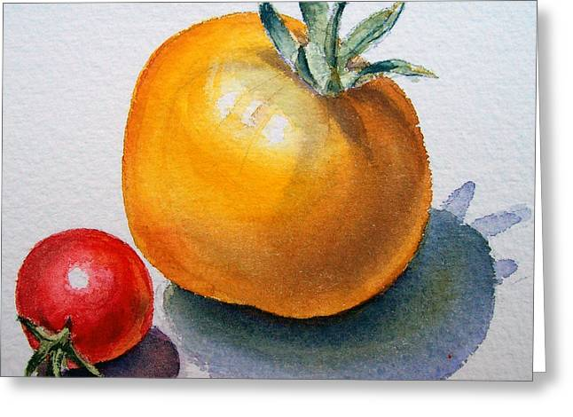 Garden Tomatoes Greeting Card by Irina Sztukowski