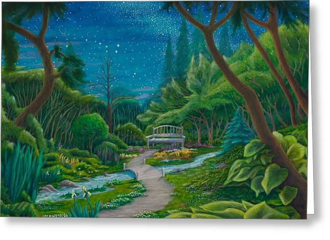 Garden Under Ursa Major Greeting Card