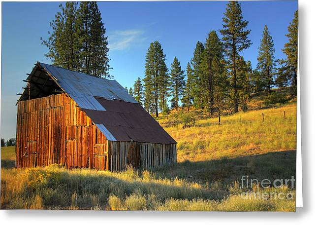 Greeting Card featuring the photograph Garden Valley Barn by Sam Rosen
