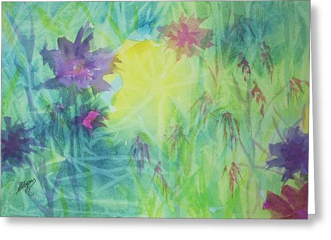 Garden Vortex Greeting Card by Ellen Levinson