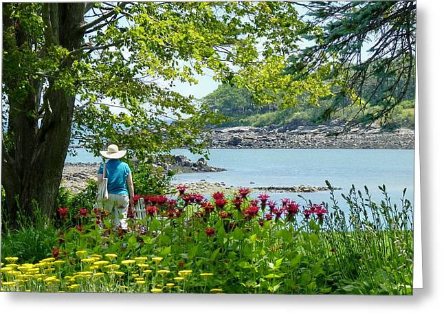 Greeting Card featuring the photograph Garden Walk by Elaine Franklin