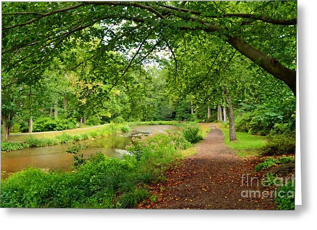 Garden Walk Greeting Card