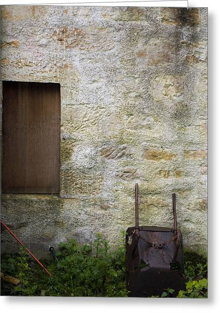 Garden Wall Dornoch Scotland Greeting Card