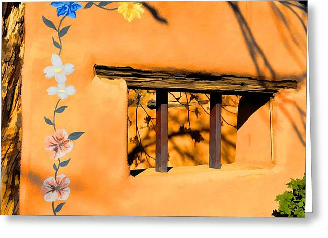 Garden Window Greeting Card by Jan Amiss Photography