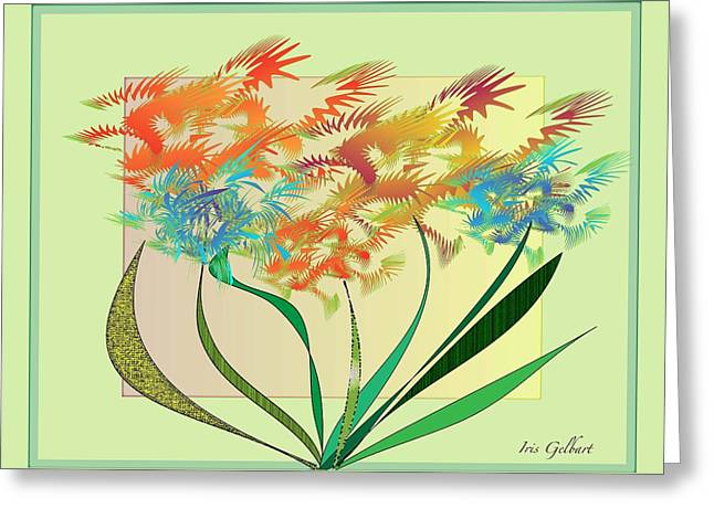 Garden Wonder Greeting Card by Iris Gelbart