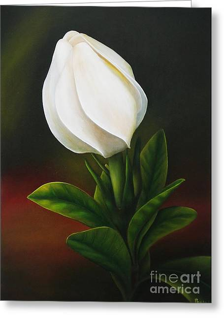 Gardenia Greeting Card by Paula Ludovino