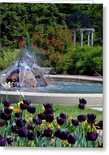 Greeting Card featuring the digital art Gardens At Maymont by Kelvin Booker