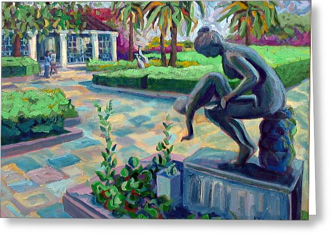 Gardens At The Society Of The Four Arts Greeting Card by Ralph Papa