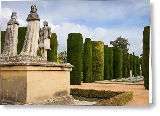 Gardens Of The Alcazar In Cordoba Greeting Card by Artur Bogacki