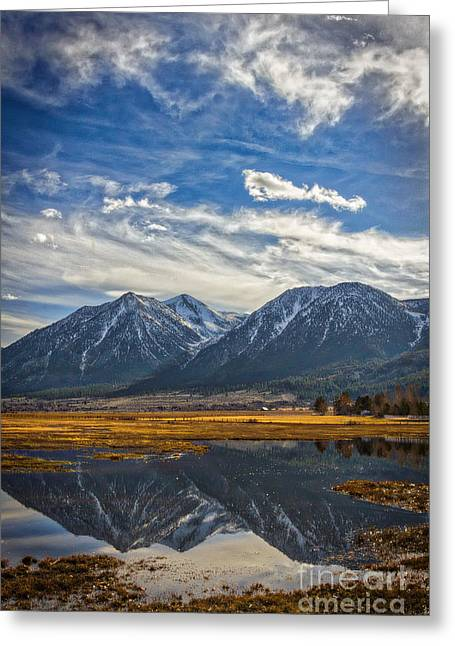 Gardnerville Nevada Greeting Card by Mitch Shindelbower