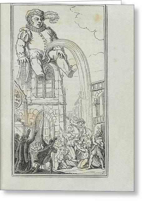 Gargantua Greeting Card by British Library