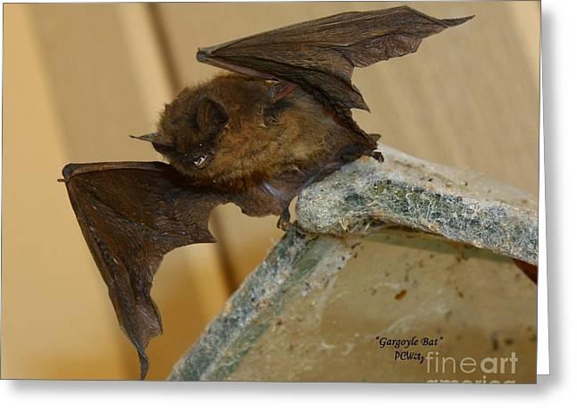 Gargoyle Bat Greeting Card