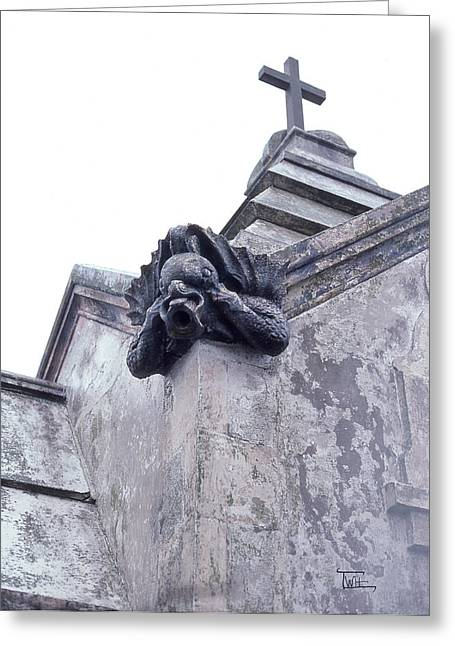 Gargoyle On The Italian Vault Greeting Card