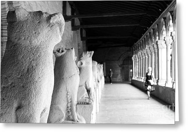 Greeting Card featuring the photograph Gargoyles by Cendrine Marrouat