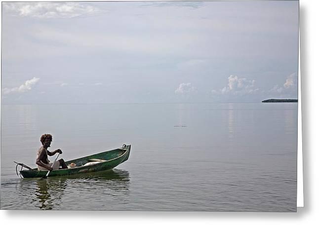 Garifuna Fisherman Greeting Card by Jim West