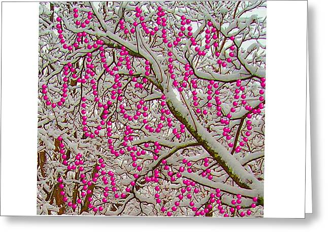 Garlands In The Snow Greeting Card