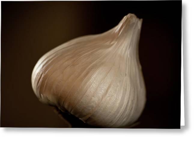Garlic Square Greeting Card by Patricia Bainter