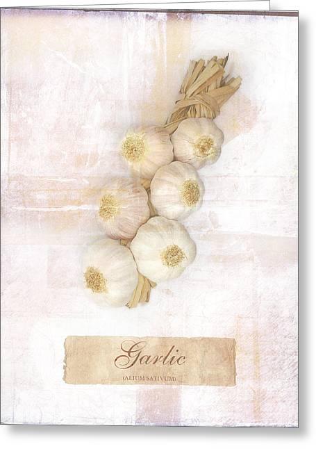 Garlic String. Greeting Card by Mark Preston