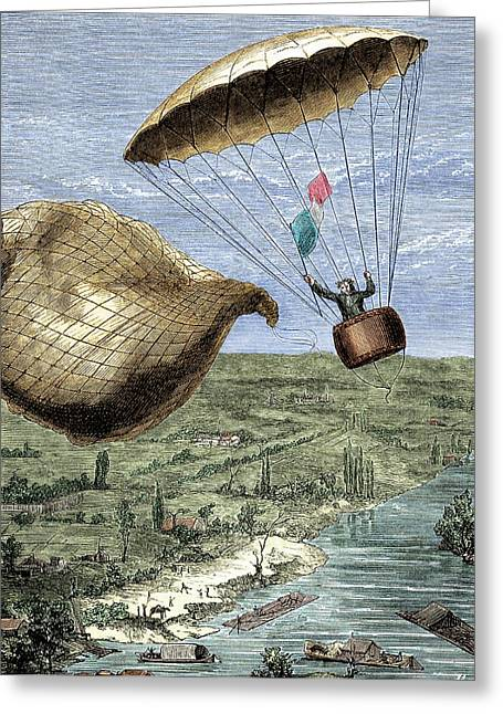Garnerin's Parachute Greeting Card