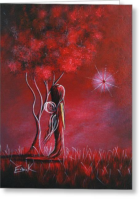 Garnet Fairy By Shawna Erback Greeting Card by Shawna Erback