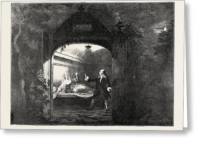 Garrick And Mrs. Bellamy As Romeo And Juliet Greeting Card by English School