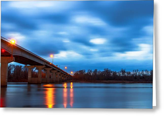 Garrison Ave. Bridge Greeting Card