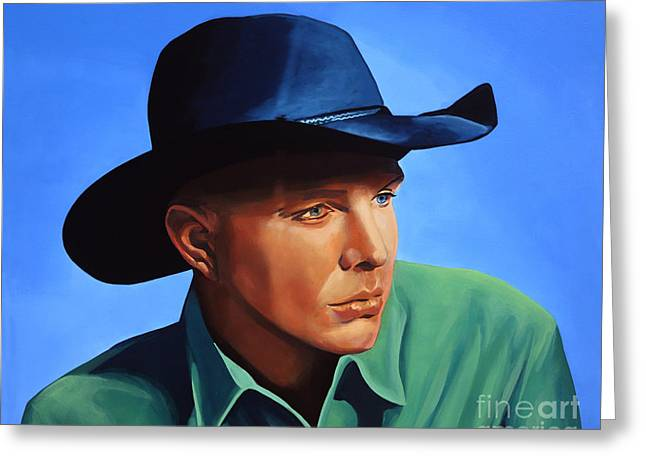 Garth Brooks Greeting Card by Paul Meijering