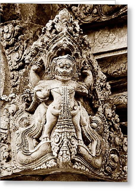 Garuda Carved In The Khmer Temple Of Banteay Srey Greeting Card