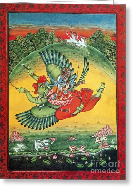Garuda, The Vahana Of Lord Vishnu Greeting Card