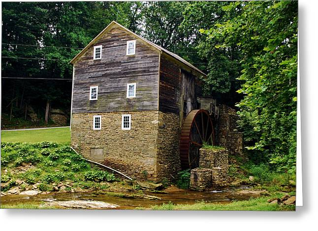 Greeting Card featuring the photograph Garvines Grist Mill by Bob Sample