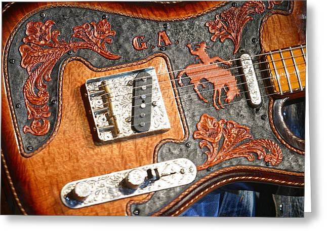 Gary Allan's Guitar Greeting Card by Don Olea