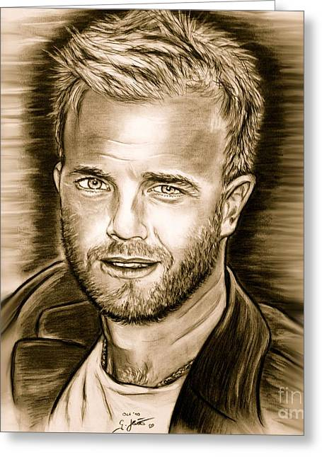 Gary Barlow Greeting Card by Gitta Glaeser
