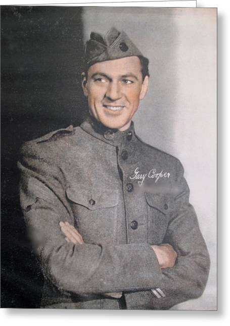 Gary Cooper Repro Greeting Card by Barbara McDevitt